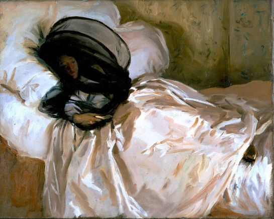 The Mosquito Net (1912) by John Singer Sargent. Licensed under Public Domain via Wikimedia Commons